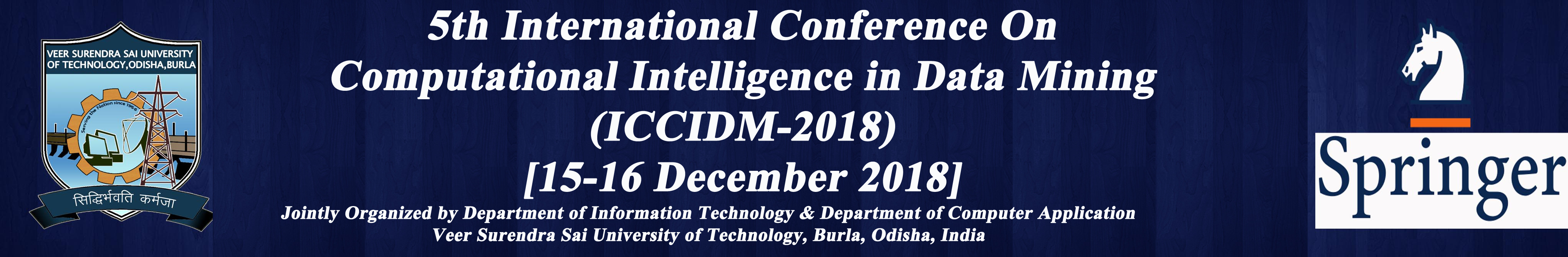 International Conference on Computational Intelligence on Data Mining